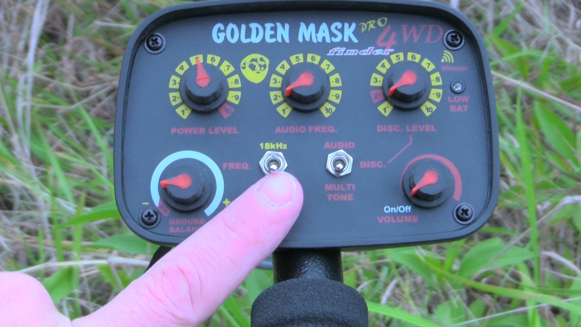 Настройки металлоискателя Golden Mask 4WD PRO. Балансировка по грунту