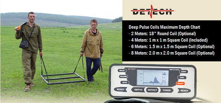 Глубинный металлоискатель Detech SSP 5100 с рамкой