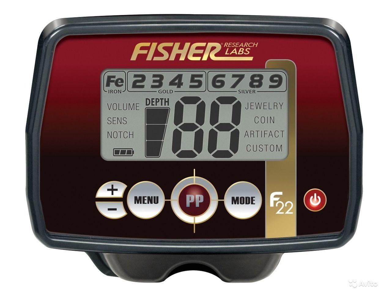 панель управления металлоискателя Fisher F11