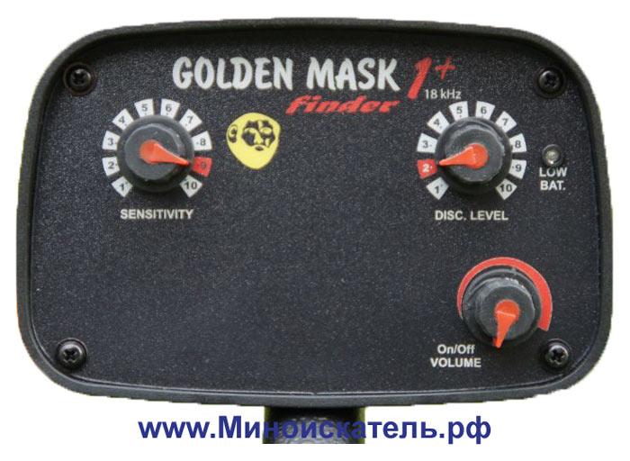 Видео с металлоискателем Golden Mask 1+