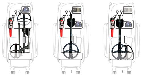 Рюкзак для металлоискателя XP Deus - как все размещается внутри