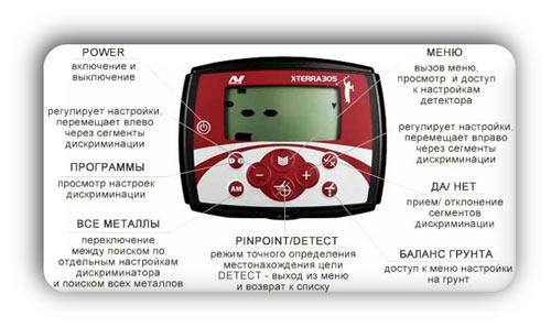 Описание функционала дисплея X-Terra 305